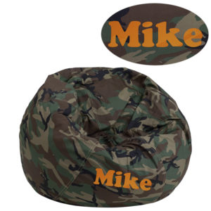 Wholesale Personalized Small Camouflage Kids Bean Bag Chair
