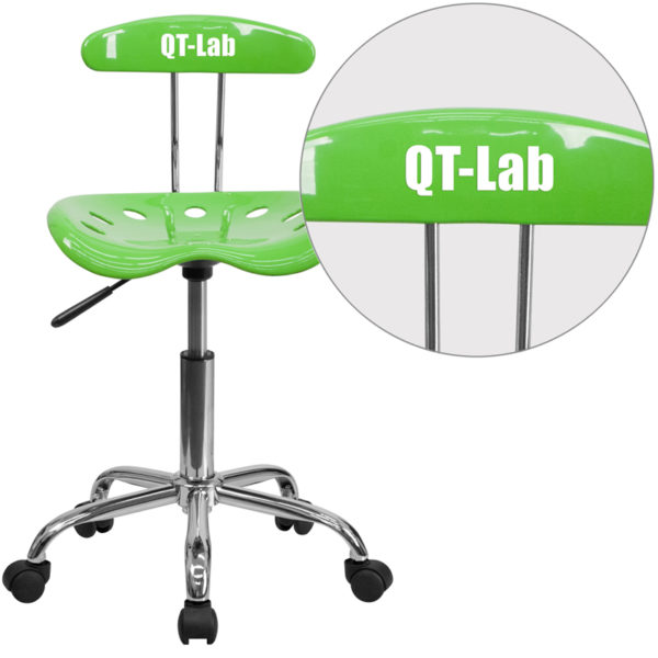 Wholesale Personalized Vibrant Apple Green and Chrome Swivel Task Office Chair with Tractor Seat