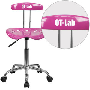 Wholesale Personalized Vibrant Candy Heart and Chrome Swivel Task Office Chair with Tractor Seat