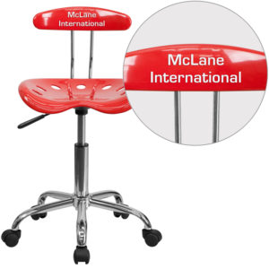 Wholesale Personalized Vibrant Cherry Tomato and Chrome Swivel Task Office Chair with Tractor Seat