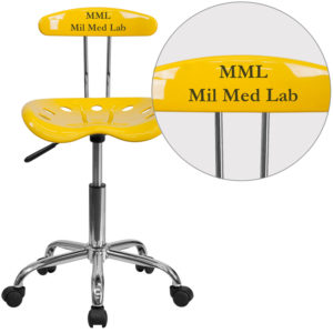Wholesale Personalized Vibrant Orange-Yellow and Chrome Swivel Task Office Chair with Tractor Seat
