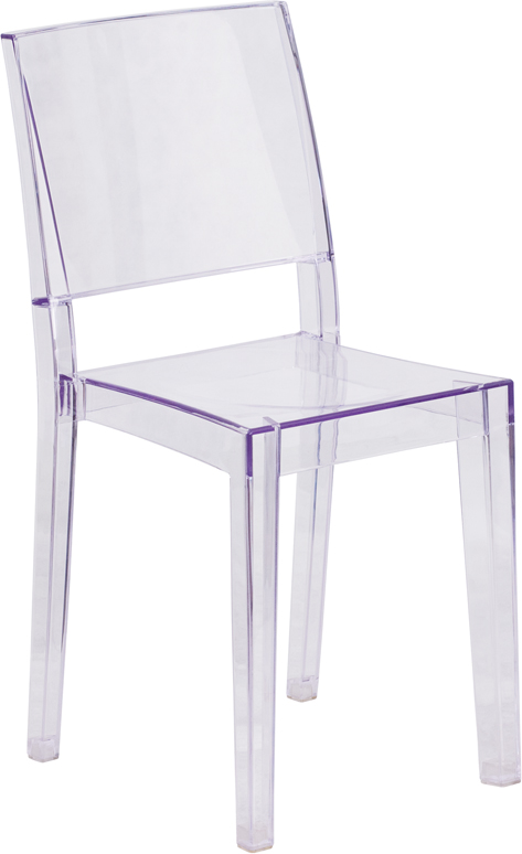 Wholesale Phantom Series Transparent Stacking Side Chair