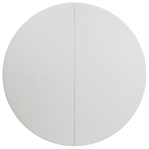 White plastic round folding table 60RD White Bi-Fold Table