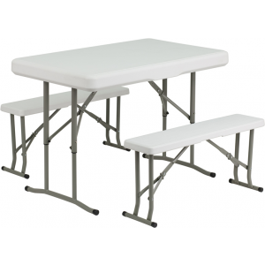 Wholesale Plastic Folding Table and Bench Set