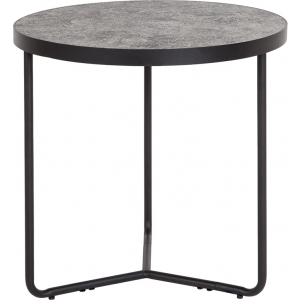"Wholesale Providence Collection 19.5"" Round End Table in Concrete Finish"