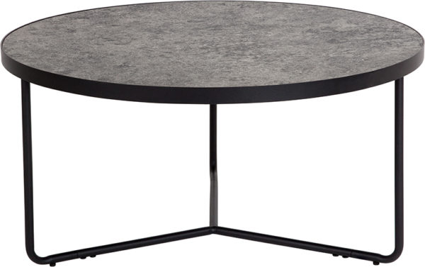 """Wholesale Providence Collection 31.5"""" Round Coffee Table in Concrete Finish"""