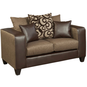 Wholesale Riverstone Object Espresso Chenille Loveseat