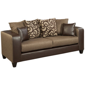 Wholesale Riverstone Object Espresso Chenille Sofa