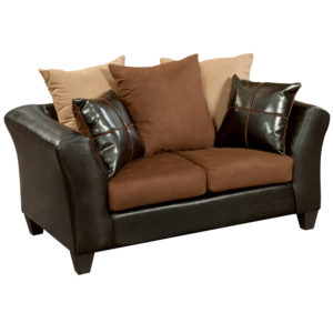 Wholesale Riverstone Sierra Chocolate Microfiber Loveseat