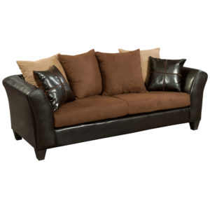 Wholesale Riverstone Sierra Chocolate Microfiber Sofa