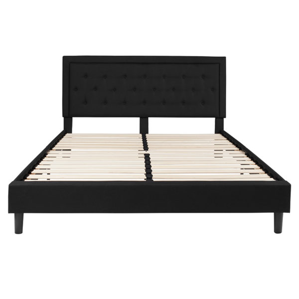 Platform Bed King Platform Bed-Black