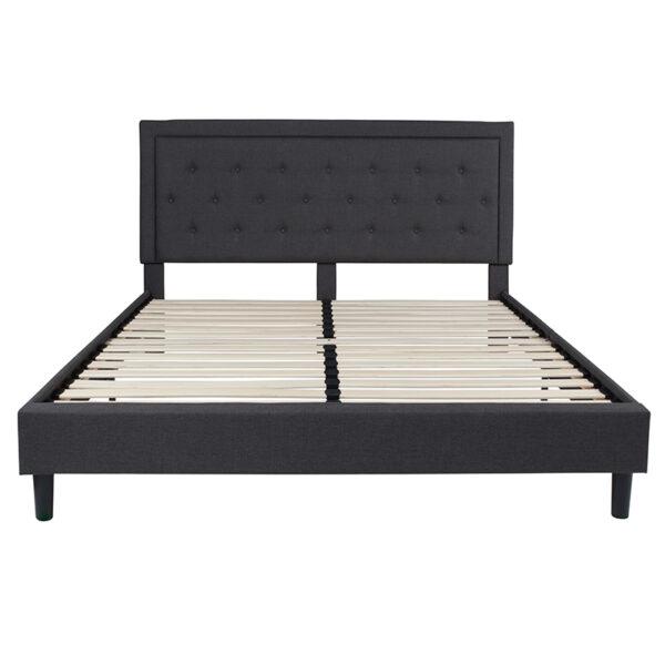 Platform Bed King Platform Bed-Dark Gray