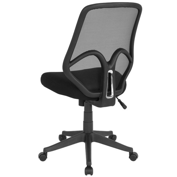 Contemporary Office Chair Black High Back Mesh Chair