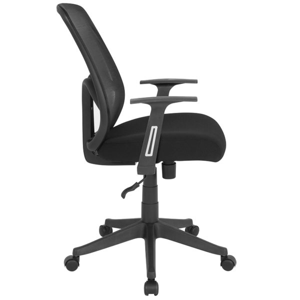 Lowest Price Salerno Series High Back Black Mesh Office Chair with Arms