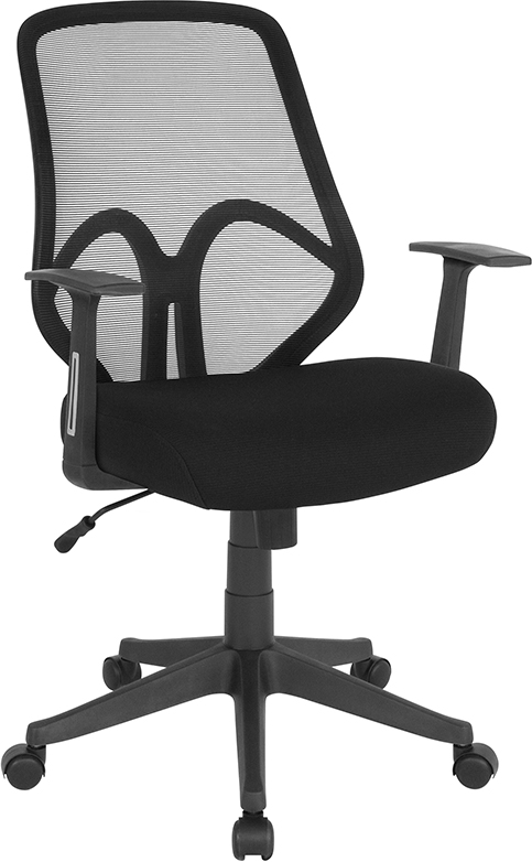 Wholesale Salerno Series High Back Black Mesh Office Chair with Arms