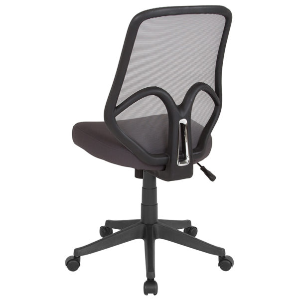 Contemporary Office Chair Dark Gray High Back Mesh Chair
