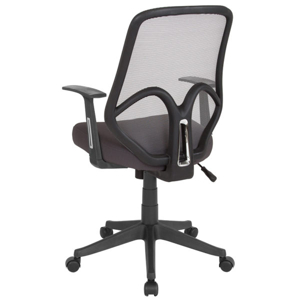 Contemporary Office Chair Dark Gray High Back Mesh Chair