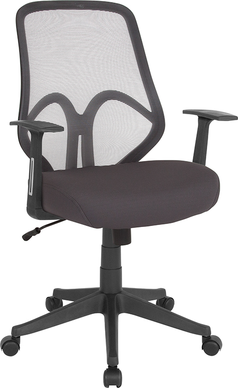 Wholesale Salerno Series High Back Dark Gray Mesh Office Chair with Arms