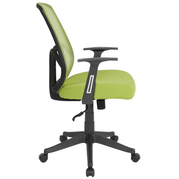 Lowest Price Salerno Series High Back Green Mesh Office Chair with Arms