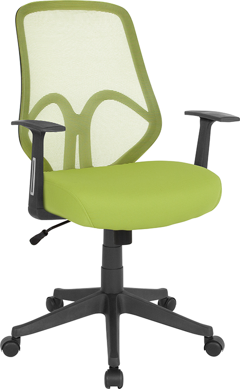 Wholesale Salerno Series High Back Green Mesh Office Chair with Arms