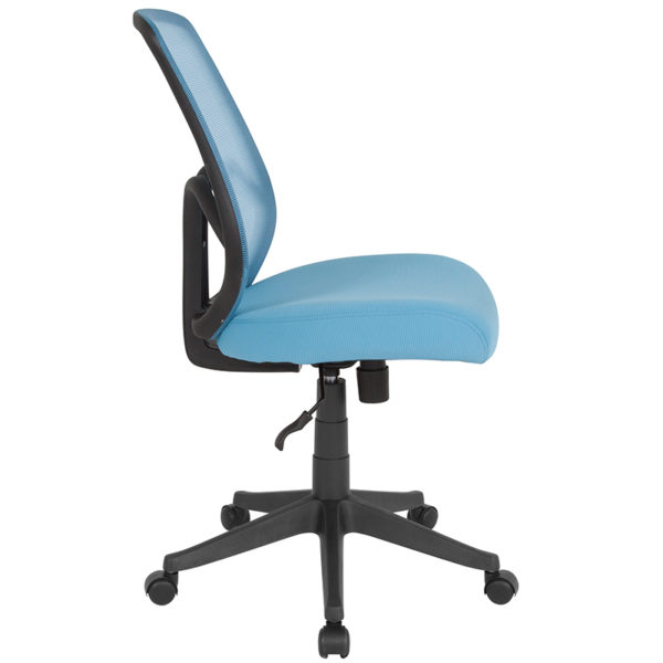 Lowest Price Salerno Series High Back Light Blue Mesh Office Chair