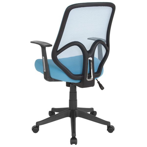 Contemporary Office Chair Blue High Back Mesh Chair