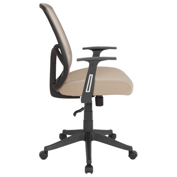 Lowest Price Salerno Series High Back Light Brown Mesh Office Chair with Arms