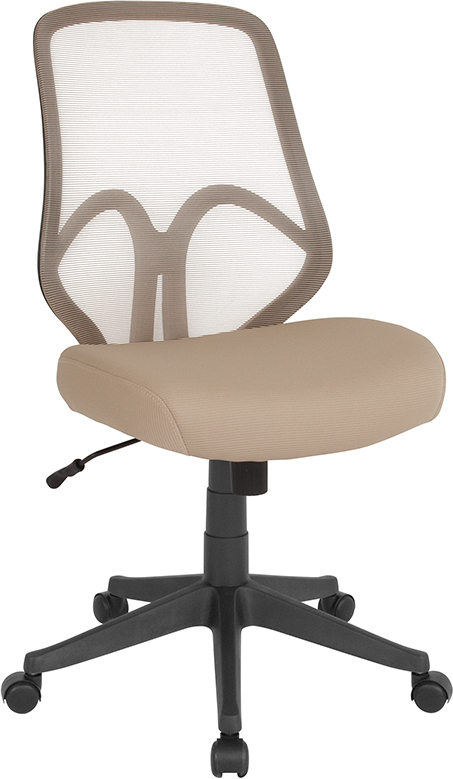 Wholesale Salerno Series High Back Light Brown Mesh Office Chair