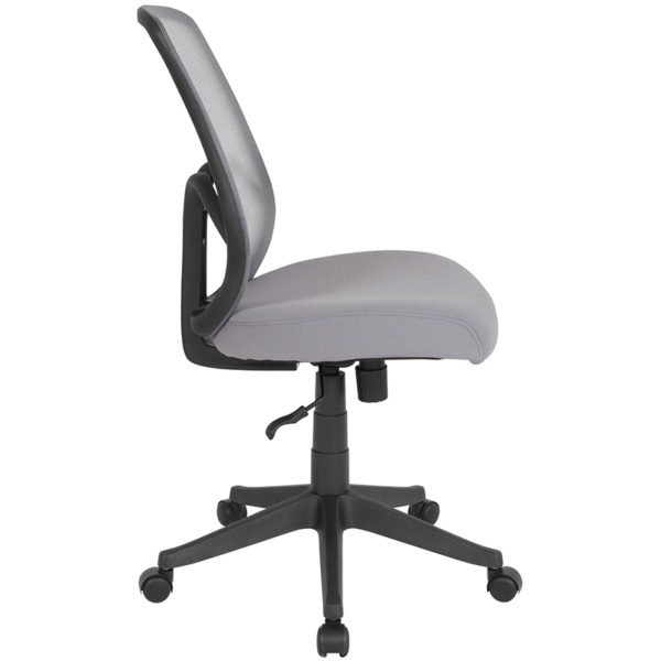 Lowest Price Salerno Series High Back Light Gray Mesh Office Chair