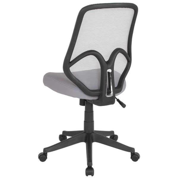 Contemporary Office Chair Lt Gray High Back Mesh Chair