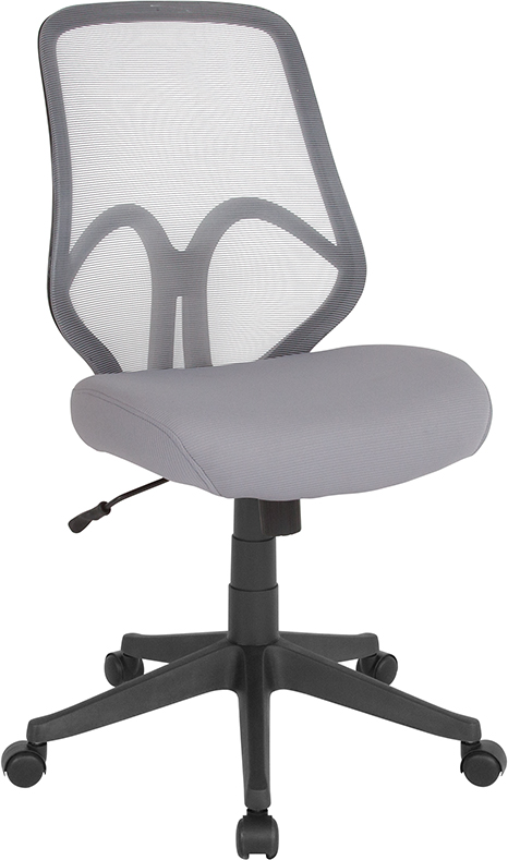Wholesale Salerno Series High Back Light Gray Mesh Office Chair