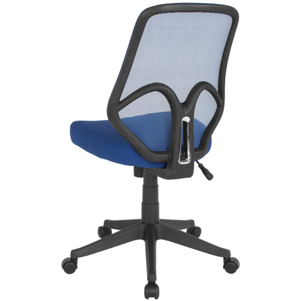 Contemporary Office Chair Navy High Back Mesh Chair