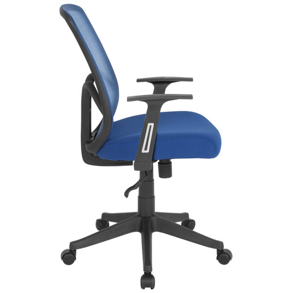 Lowest Price Salerno Series High Back Navy Mesh Office Chair with Arms