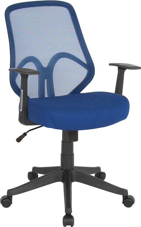 Wholesale Salerno Series High Back Navy Mesh Office Chair with Arms