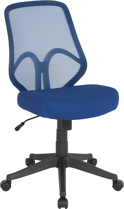 Wholesale Salerno Series High Back Navy Mesh Office Chair