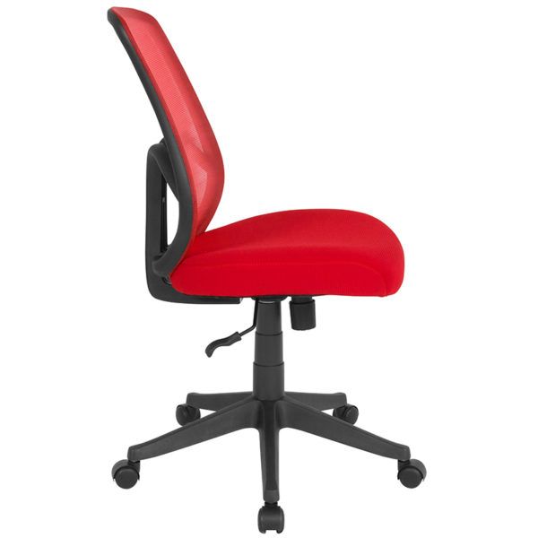 Lowest Price Salerno Series High Back Red Mesh Office Chair