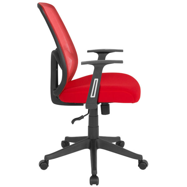 Lowest Price Salerno Series High Back Red Mesh Office Chair with Arms