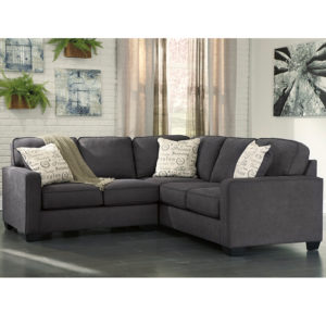 Wholesale Signature Design by Ashley Alenya 2-Piece Sofa Sectional in Charcoal Microfiber