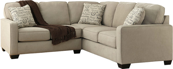 Lowest Price Signature Design by Ashley Alenya 2-Piece Sofa Sectional in Quartz Microfiber