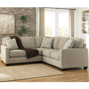 Wholesale Signature Design by Ashley Alenya 2-Piece Sofa Sectional in Quartz Microfiber