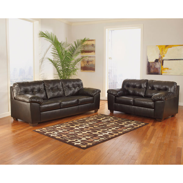 Wholesale Signature Design by Ashley Alliston Living Room Set in Chocolate DuraBlend