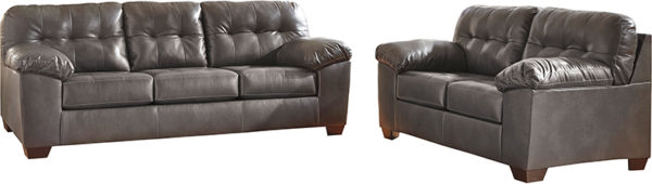 Lowest Price Signature Design by Ashley Alliston Living Room Set in Gray DuraBlend