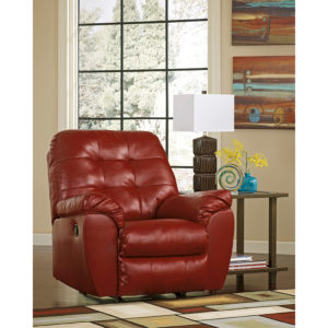Wholesale Signature Design by Ashley Alliston Rocker Recliner in Salsa DuraBlend
