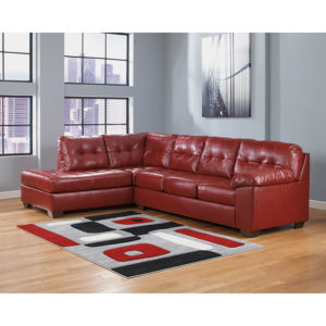 Wholesale Signature Design by Ashley Alliston with Left Side Facing Chaise Sectional in Salsa DuraBlend