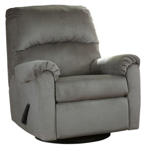 Wholesale Signature Design by Ashley Bronwyn Swivel Glider Recliner in Alloy Fabric