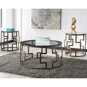 Wholesale Signature Design by Ashley Frostine 3 Piece Occasional Table Set