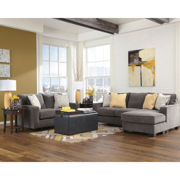 Wholesale Signature Design by Ashley Hodan Living Room Set in Marble Microfiber