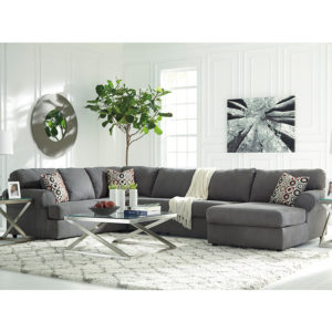Wholesale Signature Design by Ashley Jayceon 3-Piece Left Side Facing Sofa Sectional in Steel Fabric