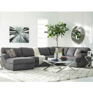 Wholesale Signature Design by Ashley Jayceon 3-Piece Right Side Facing Sofa Sectional in Steel Fabric