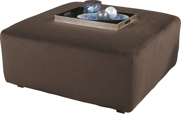 Lowest Price Signature Design by Ashley Jessa Place Oversized Ottoman in Chocolate Fabric